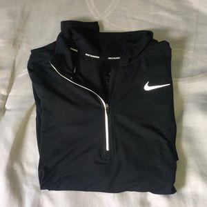 Nike run quarter zip. Black and xs. Lightly worn.